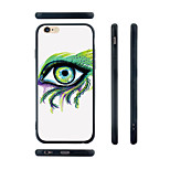 Painting Eye Pattern Transparent Silica Gel Edge Back Case for iPhone 6