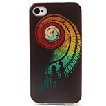 Swirl Pattern TPU Material Phone Case for iPhone 4/4S