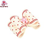 FUN OF PETS® Elegant Ribbon Style Spot Pattern Flower Decorated Rubber Band Hair Bow for Pet Dogs(Random Colour)