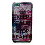 Never stop dreaming  Pattern with shimmering TPU Soft Case for iPhone 5/iPhone 5S