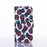 piccolo modello ananas pu scheda materiale in pelle caso per tutto il corpo per il iphone 5 / 5s