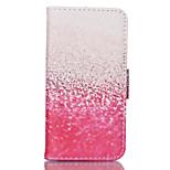 rosa modello cuoio dell'unità di elaborazione doppia faccia cassa del telefono per il iphone 5 / 5s