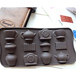 Fashion Diy Silicone Cake Mold Ice Chocolate Decorating Mould Kitchen Cooking Tools (Random Color)