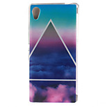 Glossy Painted Triangle Clouds TPU Soft Case for Sony Xperia M4 Aqua