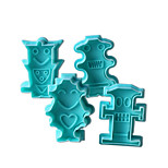 4PCS Robot Pattern Cake and Cookie Cutter Mold
