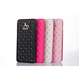Crown Rhombus Diamond Leather Case Cover Stand for Apple IPHONE 6(Assorted Colors)