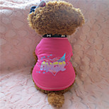 Dog T-Shirt - XS / S / M / L - Summer - Rose - Cosplay - Cotton
