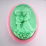 la mariée et le marié savon moule en silicone