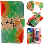 Be Happy Pattern with Card Bag Full Body Case for iPhone 4/4S