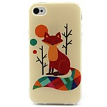 Fox Pattern TPU Material Soft Phone Case for iPhone 4/4S