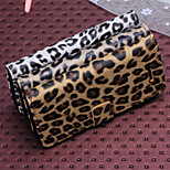 Leopard Print Pattern Horizontal Flip Leather Case with Card Slots and Holder for iPhone5S