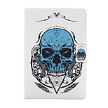 Blue Skull Pattern PU Leather Full Body Case for iPad mini/mini2/mini3