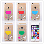 Cute Wine Glass Pattern Ultrathin TPU Soft Back Cover Case for iPhone 6(Assorted Colors)