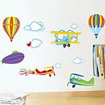 estilo decalques adesivos de parede parede de balão de ar quente adesivos de parede de pvc