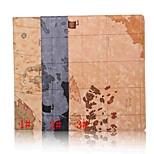 10.1 polegadas mapa padrões de alta qualidade estojo de couro pu com suporte para o Sony Xperia z4 comprimido (cores sortidas)