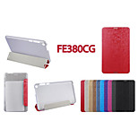 Ultra Thin PU Leather Stand Cover, Transparent Inner Protective Case  For Asus  Fonepad 8(FE380CG) (Assorted Color)