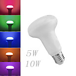 1 pcs Ding Yao E27 5W 10W 1COB 300-500LM RGB Globe Bulbs AC 85-265V
