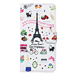 Palette Sweet Street Pattern PU Leather Full Body Case with Stand and Card Slot for ZTE Blade S6