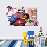 3D Wall Stickers Wall Decals Style Crazy Alien PVC Wall Stickers