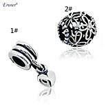 Euner® New 925 Sterling Silver Charms Original Heart Pendants Dangle Charms Fits European Diy Charm Bracelets