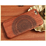Sun Flower Back Cover Solid Wood Protective Shell for iPhone 6