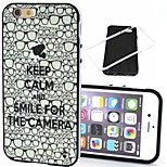 2-in-1 Keep Calm and Glasses Pattern TPU Back Cover with PC Bumper Shockproof Soft Case for iPhone 6