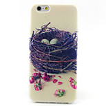 Nest Pattern TPU Painted Soft Back Cover for iPhone 6