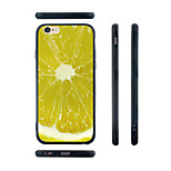 Lemon Slice Pattern Transparent Silicone Rubber Edge Hard Back Case for iPhone 6