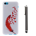 Fly Freely Pattern TPU Soft Back and A Stylus Touch Pen for iPhone 5C