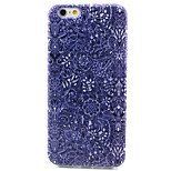 Blue and White Pattern TPU Painted Soft Back Cover for iPhone 6