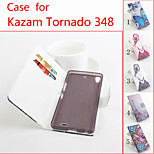 Flip Leather Magnetic Protective Case For Kazam Tornado 348(Assorted Colors)