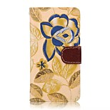 Country Style Flower Pattern Protective Flip Open Leather Case for Sony Xperia Z4 Mini