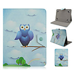 Owl Pattern High Quality PU Leather with Stand Case for 10 Inch Universal Tablet