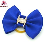 FUN OF PETS® Lovely Pure Color Rubber Band Hair Bow for Pet Dogs  (Random Color)