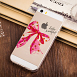 Red Bowknot Pattern TPU Soft Case for iPhone 5/5S
