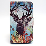 The Plum Blossom Monster Pattern PU Leather Phone Holster  For iPhone 4/4S