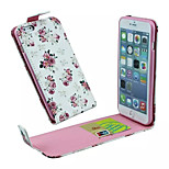 Flowers Pattern Flip Up And Down Pu Leather And The Card Slot Cell Phone Holster For iPhone 6
