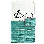 Sea Pattern PU Leather Painted Phone Case For Nokia N435
