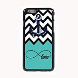 étui rigide ancre et amour design en aluminium pour iPhone 6