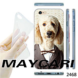 MAYCARI®Dog in Suit Pattern Transparent TPU Soft Back Case for iPhone 6