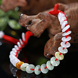 Hand Made Beads Crystal Bright Donut Natural Jade Bracelet