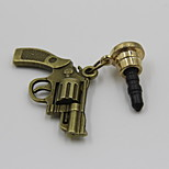 Fashion Retro Alloy Gun Style Pendant Dust Plug General Type