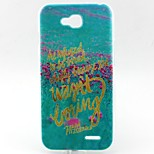 Letter Pattern TPU Material Soft Phone Case for LG L90 D405