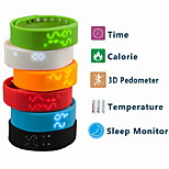 Smartband W2 USB Smart Bracelet Time/Calorie/3D Pedometer/Temperature/Sleep Monitor