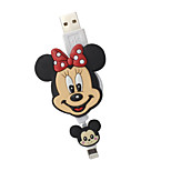 disney minnie mouse cable de carga plegable para el iphone 5g / 5s / 5c / 6 / 6plus aire Mini iPad 2 ipad