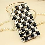 griglia gemma diamante appoggia duro per iphone4 / 4s (colori assortiti)