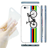 Colorful Bicycle Pattern TPU Soft Back Case for iPhone 6/6S