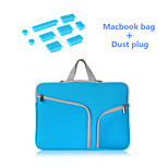 High Quality Handle Zipper Sleeve bag with Silicone Dust Plug for Macbook Retina 15.4