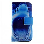 Shark Pattern PU Leather Case for iPhone 5/5S