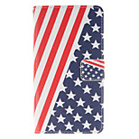 American Flag Design PU Leather Full Body Protective Case with Stand Wiko Lenny